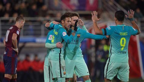 Trio MSN comanda Neymar deixa dele Barça goleia Eibar fora ...