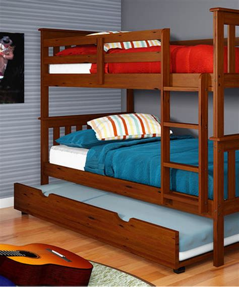triple bunk beds with trundle – Luxy Home