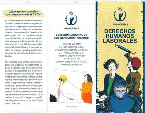 Triptico Derechos Humanos Laborales – SDET COBAEV