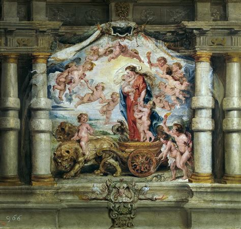 Triumph Of Divine Love Painting by Peter Paul Rubens