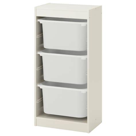 TROFAST Combinación de almacenaje con cajas, blanco ...