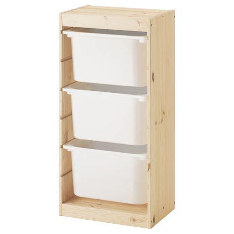 TROFAST Combinación de almacenaje con cajas, pino pino tte ...