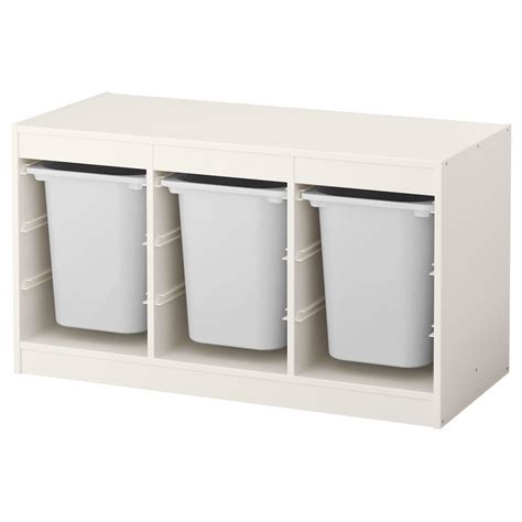 TROFAST Storage combination with boxes   white, white   IKEA