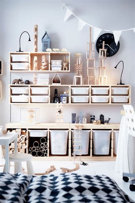 TROFAST Storage combination with boxes, white, white in ...