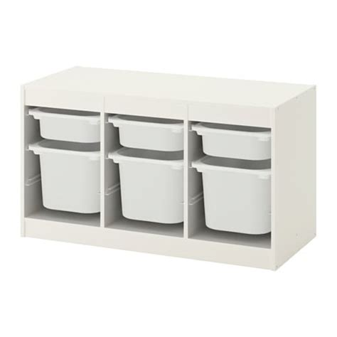 TROFAST Storage combination with boxes   white/white ...