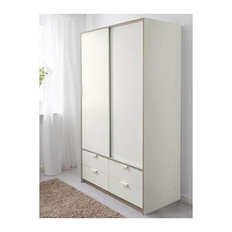 TRYSIL Kledingkast schuifdeuren/4 lades   wit | Ikea ...