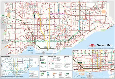 Ttc bus route map   Ttc map bus routes  Canada