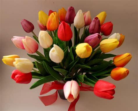 Tulipanes Artificiales Decoracion Con Flores Tulipan Latex ...