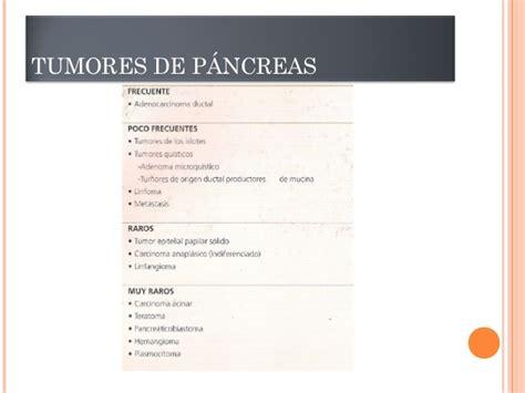 Tumores de pancreas