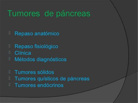 Tumores quísticos de páncreas