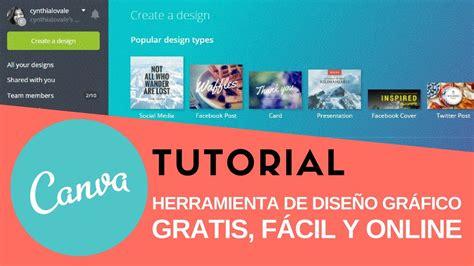 TUTORIAL CANVA EN ESPAÑOL | Diseño Gráfico FÁCIL Y GRATIS ...