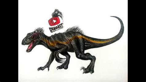 Tutorial como dibujar al Indoraptor de Jurassic World ...