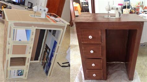 Tutorial: cómo hacer mueble de carton para escritorio o ...
