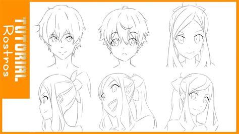 TUTORIAL DE DIBUJO #1 /Como dibujar rostros estilo anime ...