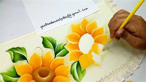 Tutorial De Pintura Como Pintar Girasoles Fácil / How to ...