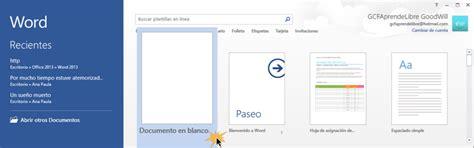 TUTORIAL DE WORD 2013: Word 2013: crear y guardar documentos