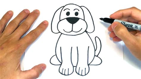 Tutorial paso a paso para dibujar un perro con lápiz fácil
