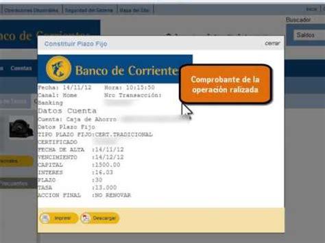 Tutorial: Plazo Fijo por Home Banking del BanCo   YouTube