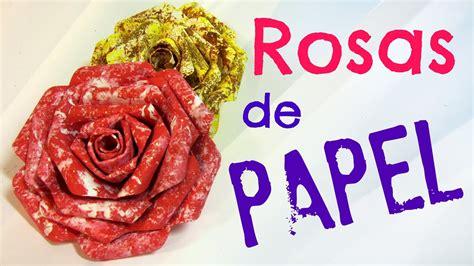 Tutorial: Rosas de papel. Paper roses.   YouTube