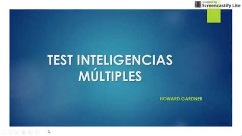 TUTORIAL TEST INTELIGENCIAS MÚLTIPLES  HOWARD GARDNER ...