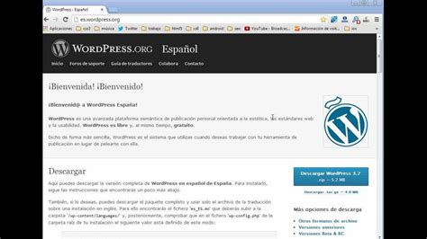 tutorial wordpress   descargar e instalar wordpress en el ...