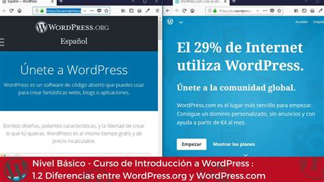 Tutorial WordPress español 1.2 Diferencias entre WordPress ...
