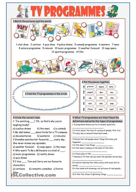 TV Programmes Vocabulary Exercises   classroom ...