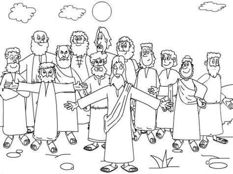 Twelve Disciples Coloring Page   Coloring Home