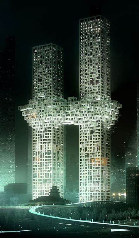 Twin tower like building design in South Korea sparks ...