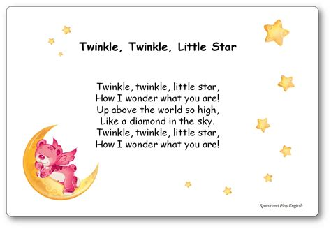 Twinkle, Twinkle, Little Star – Nursery Rhyme Song with ...