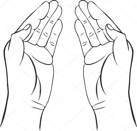two hands with open palms — Stock Vector  cat_arch_angel ...