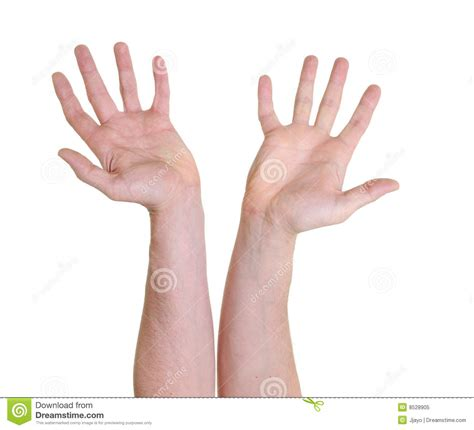 Two hands with open palms stock image. Image of person ...