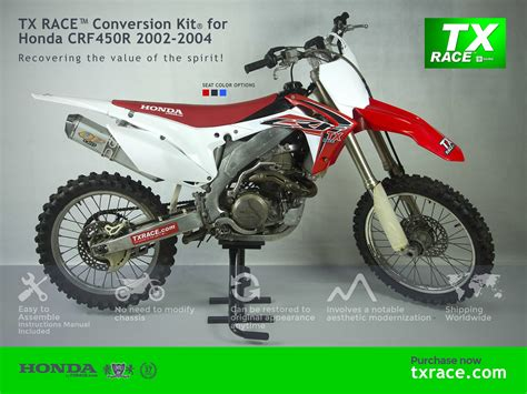 TX RACE Conversion Kit for Honda CRF450R 2002 2003 2004 ...