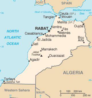 Ubicacion geografica de Marruecos   Donde queda?
