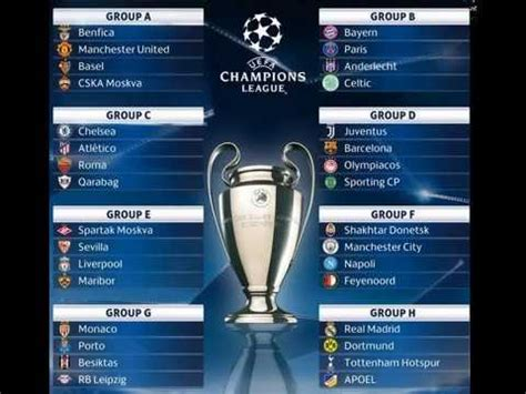 UEFA Champions League 2017 2018   Group stage Official ...