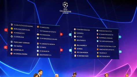 Uefa Champions League 2018/19 groups and award winners ...