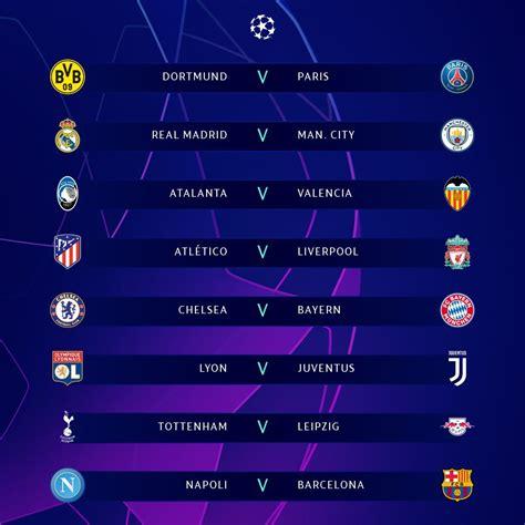 UEFA Champions League 2019 Last 16 Draw : sports