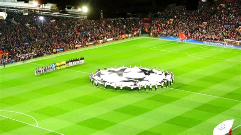 UEFA Champions League Anthem at Old Trafford   YouTube