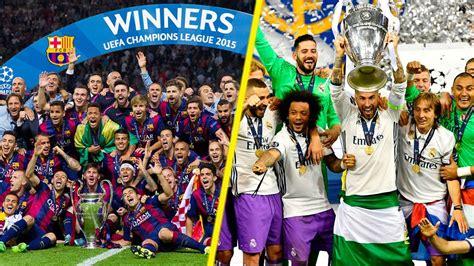 UEFA Champions League Winners List II 1956 2017 II   YouTube