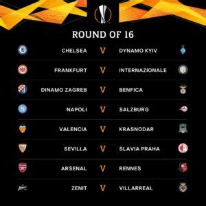 UEFA Europa League 2018 19 Round of 16 Fixtures   SAR ...