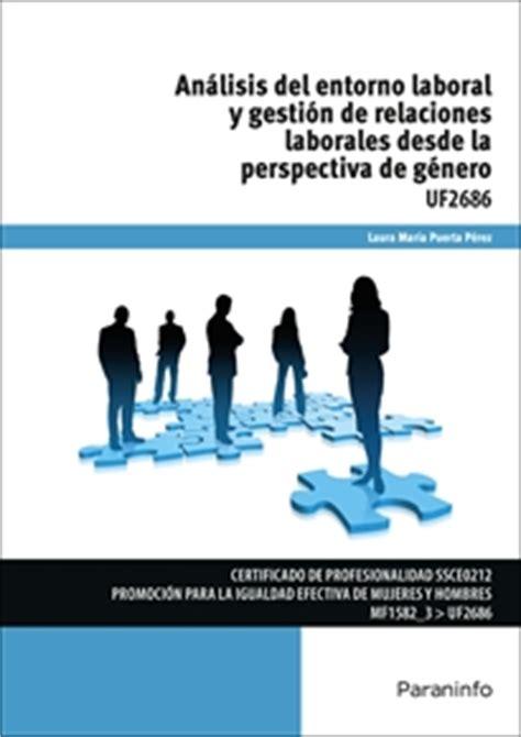 UF2686   Análisis del entorno laboral y gestión de ...