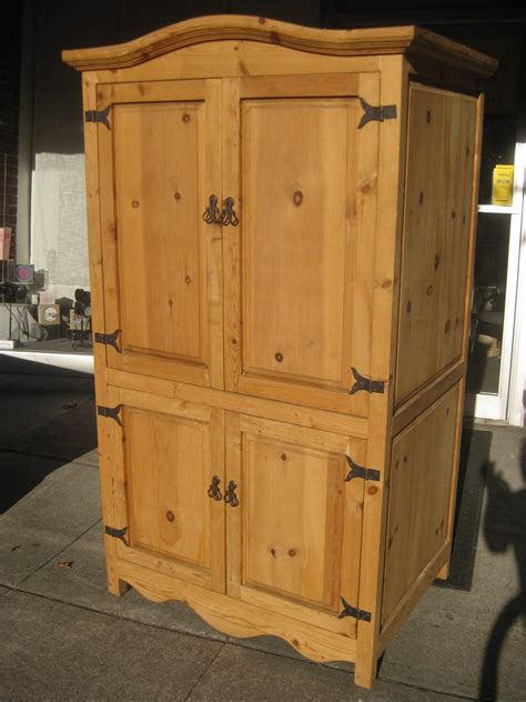 UHURU FURNITURE & COLLECTIBLES: SOLD   Pine Armoire   $175