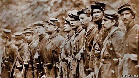 UK American Civil War tribute hope   BBC News