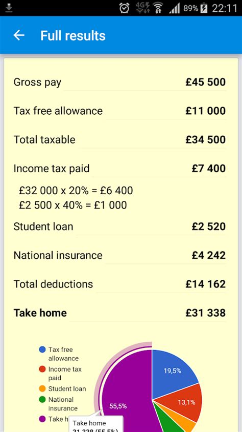 UK Income Tax Calculator 2017/18   Android Apps on Google Play