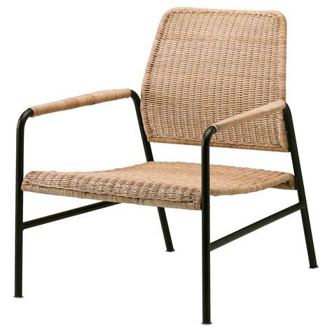 ULRIKSBERG Armchair, rattan, anthracite   IKEA