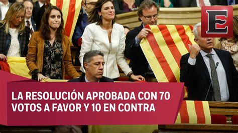 ÚLTIMA HORA: Parlamento de Cataluña declara su ...