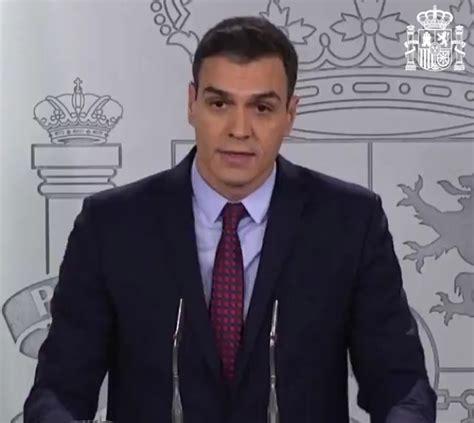 ÚLTIMA HORA . Pedro Sánchez confirma que mañana va a ...