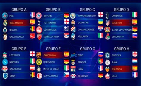 Última hora: Sorteo Champions League 2019 20    TikiTaka