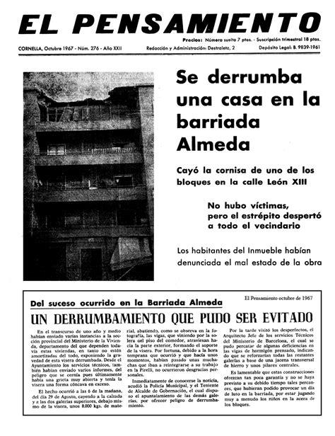 Un derrumbamiento que pudo ser evitado 1967 | Almeda