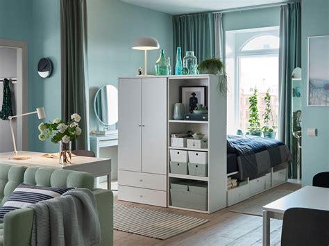 Un dormitorio funcional en un salón pequeño   IKEA